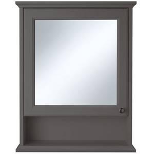 Savoy Mirror Wall Cabinet - Grey