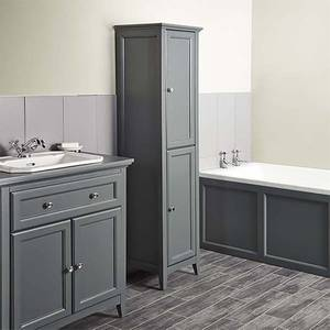 Bathstore Savoy 400mm Tall Floorstanding Cabinet - Charcoal Grey