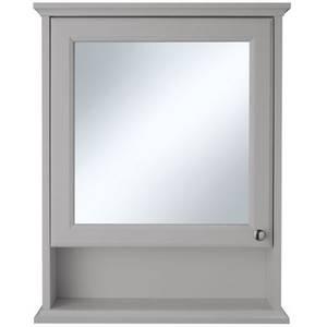 Savoy Mirror Wall Cabinet - Gun Metal Grey