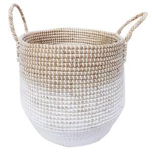 Small Seagrass Basket - White