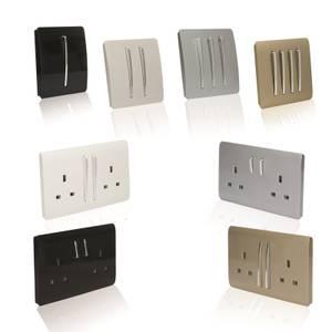 Trendi Switch TV Co-axial Socket in Screwless Silver