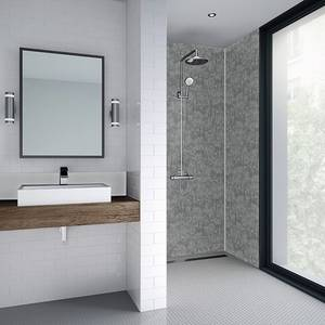 Wetwall 590mm tongue & groove laminate - modern stone