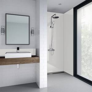 Wetwall White Gloss - 590mm Tongue & Groove - Laminate
