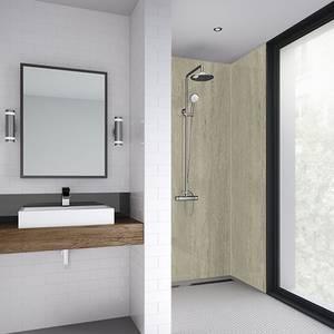 Wetwall 900mm square edge laminate - italian stone