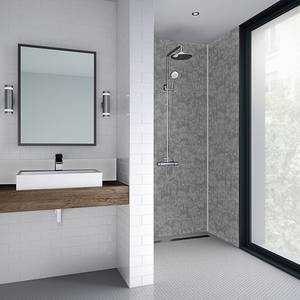 Wetwall 900mm square edge laminate - modern stone