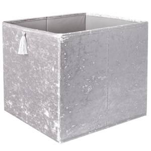 Crushed Velvet Cube Insert - Grey