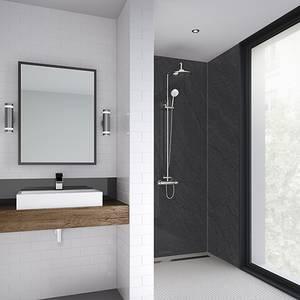 Wetwall 900mm square edge laminate - sicilian slate nat