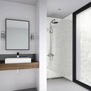 Wetwall 1200mm square edge laminate - galaxy white