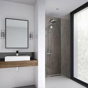 Wetwall 1200mm square edge laminate - copper alloy