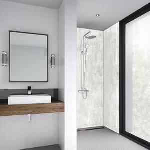 Wetwall 1200mm square edge laminate - light stone