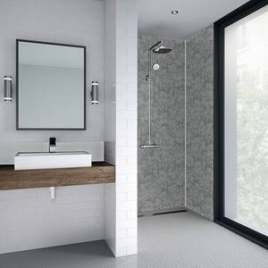 Wetwall 1200mm square edge laminate - modern stone