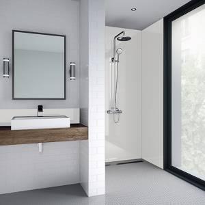 Wetwall 1200mm square edge laminate gloss - white