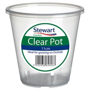 Clear Plastic Pot - 11cm