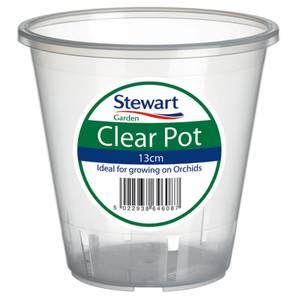 Clear Plastic Pot - 13cm