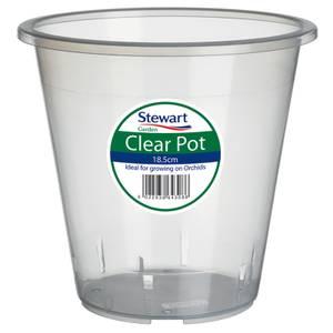Clear Plastic Pot - 18.5cm
