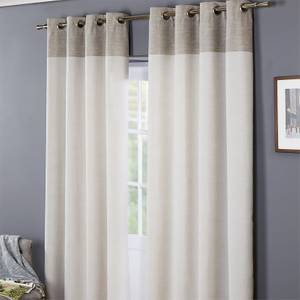 Oslo 100% Cotton Eyelet Curtains 46 x 54 - Grey