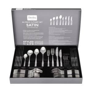 Denby Satin Cutlery Set - 44 Pieces