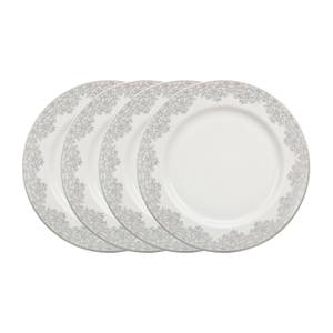 Denby Monsoon Filigree Silver Salad Plates - 4 Piece Set