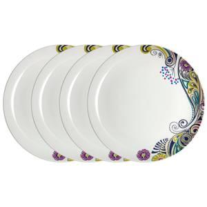 Denby Monsoon Cosmic Dinner Plates - 4 Piece Set