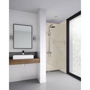 Wetwall Cararra Marble 1200Mm 3 Sided Kit - Laminate