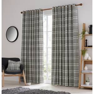Helena Springfield Harriet Lined Curtains 66 x 90 - Charcoal