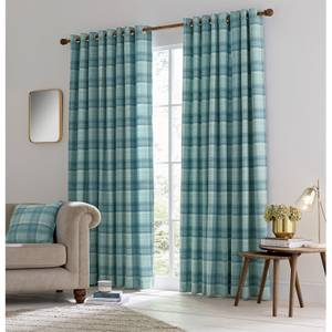 Helena Springfield Harriet Lined Curtains 66 x 72 - Duck Egg