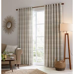 Helena Springfield Harriet Lined Curtains 90 x 72 - Taupe
