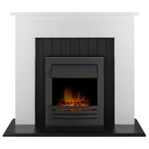 Adam Chessington in White with Eclipse Electric Fire in Black