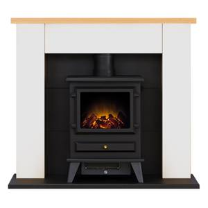 Adam Chester in White with Hudson Electric Stove in Black