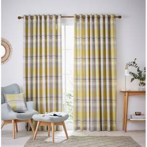Helena Springfield Nora Lined Curtains 90 x 72 - Chartreuse