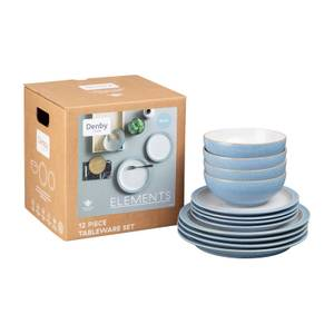 Denby Elements 12 Piece Tableware Set - Blue