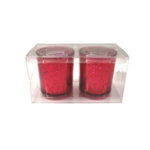 Set of 2 Tealight Holders - Mercury Red