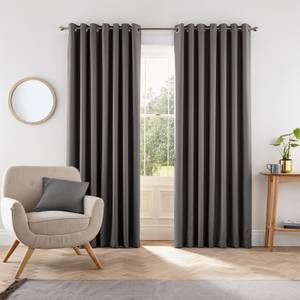 Helena Springfield Eden Lined Curtains 90 x 90 - Charcoal