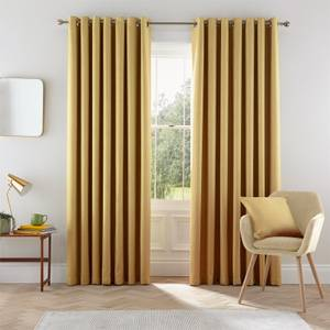 Helena Springfield Eden Lined Curtains 90 x 90 - Chartreuse