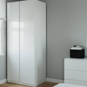 Modular Bedroom Handleless Double Wardrobe - White