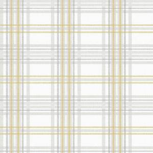 Superfresco Easy Country Tartan Grey & Yellow Wallpaper