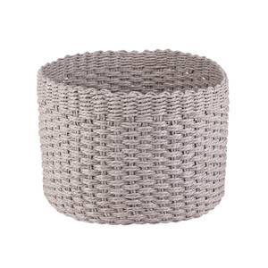 Round Paper Rope Basket - Grey