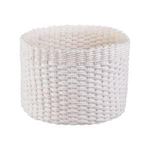 Round Paper Rope Basket - White
