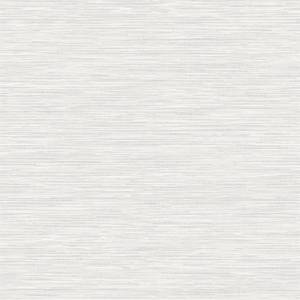 Holden Decor Bambara Plain Textured Metallic White Wallpaper