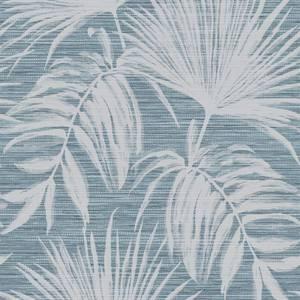 Holden Decor Bambara Leaf Textured Metallic Teal Wallpaper