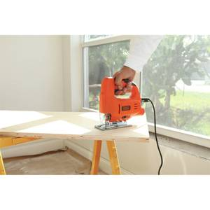 BLACK+DECKER Heavy Duty 400W Corded Jigsaw with Blade (KS501-GB)