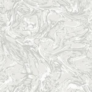 Holden Decor Coralito Marble Effect Textured Metallic White Wallpaper