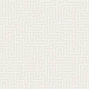 Holden Decor Labyrinth Geometric Textured Metallic White Wallpaper