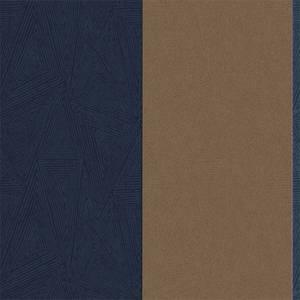 Holden Decor Galena Striped Textured Metallic Navy Wallpaper