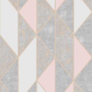 Superfresco Milan Geo Blush & Grey Wallpaper