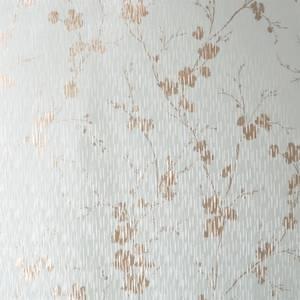 Sublime Theia Blossom Duck Egg Wallpaper