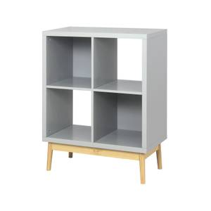 2x2 Cube Storage Unit - Painted Grey with Wooden Legs