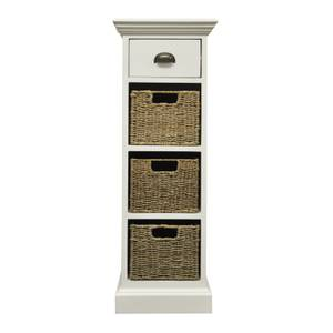 Holywell 1 Drawer 3 Wicker Basket Cabinet