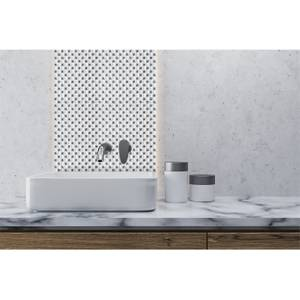 HoM White Jewel Mosaic Tile - 300 x 300mm