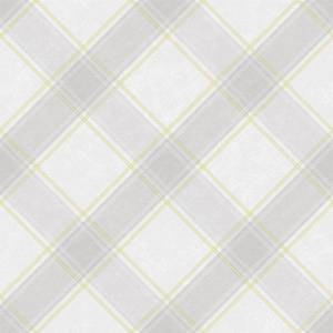 Holden Decor Aidan Check Tartan Smooth Yellow and Grey Wallpaper